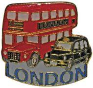 Bus/taxi pin badge