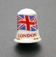 Union jack London thimble