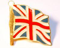 Wavy union jack pin badge